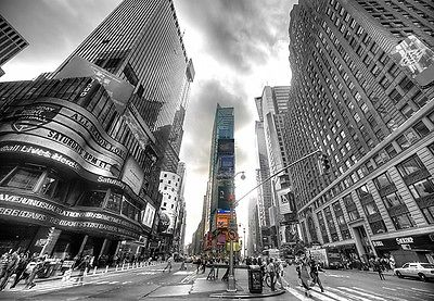 WALLPAPER MURAL PHOTO New York Times Square GIANT WALL DECOR PAPER ...